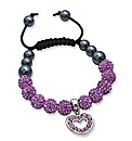 Crystal Bead Heart Bracelet