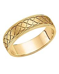 9ct Gold Gents Heavyweight Wedding Band