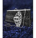 Glitzy Watch & Clutch Bag Gift Set