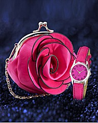 Ladies Watch & Purse Gift Set