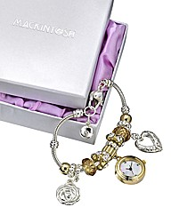 Mackintosh-Style Charm Bracelet Watch