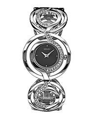 Seksy Ladies Silver-Tone Bracelet Watch