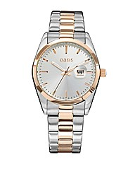 Oasis Ladies Two-Tone Bracelet Watch