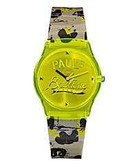 Pauls Boutique Plastic Strap Neon Watch