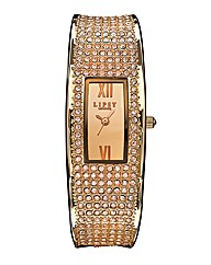 Lipsy Rose-Tone Bangle Watch