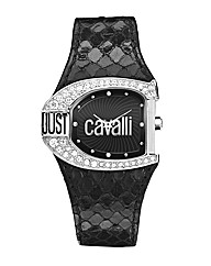Just Cavalli Black Strap Dress Watch