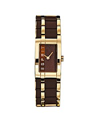 Esprit Ladies Metal & Leather Watch