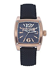 Just Cavalli Gent Black Strap Watch