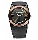 McKenzie Gents Black Strap Watch