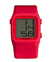 Converse Gents Red Silicon Strap Watch