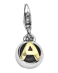 Sphere of Life Silver Initial Charm