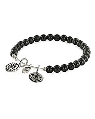 Lucky Ganesh Black Onyx Charm Bangle