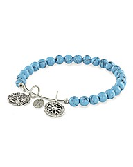 Mother Doll Turquoise Charm Bangle