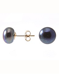 9 Carat Gold & Pearl Stud Earrings