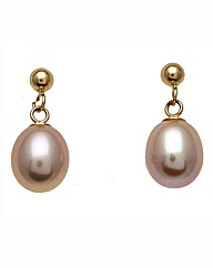 9 Carat Gold & Pearl Earrings