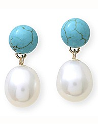 9 Carat Gold, Pearl & Gemstone Earrings