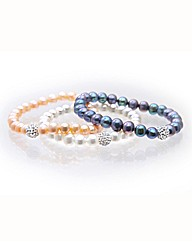 Set of 3 Freshwater Pearl Bracelets