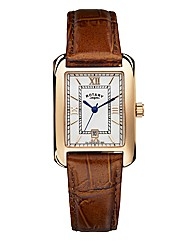 Rotary Gents Rose-tone Strap Watch
