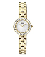 Eco-Drive Ladies Crystal Set Watch