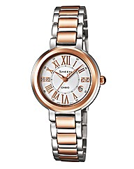 Casio Sheen Two-tone Bracelet Watch