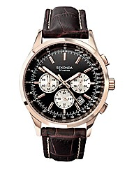 Sekonda Multi-dial Brown Strap Watch