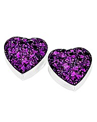 Jon Richard Silver & Amethyst Earrings
