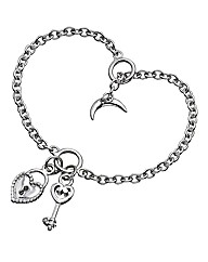 Lily & Lotty Heart Padlock Bracelet