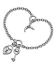 Lily & Lotty Heart Padlock Bracelet