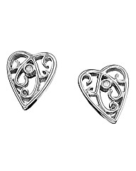 Lily & Lotty Filigree Heart Earrings