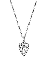 Lily & Lotty Filigree Heart Pendant