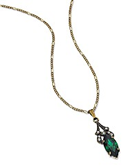Cavendish French Faux Emerald Pendant