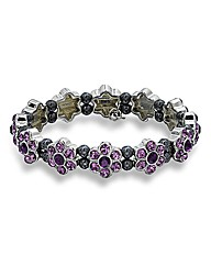 Coppercraft Purple Stone Flower Bracelet