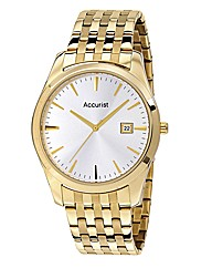 Accurist Gents Gold Tone Bracelet Watch