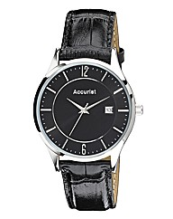 Accurist Gents Leather Strap Watch