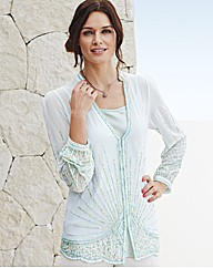 Gray & Osbourn Long Sequin Blouse