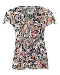 Chesca Butterfly Print Blouse