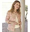 Anise Tweed Collarless Jacket