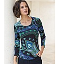 Gerry Weber Paisley Print Jersey Top