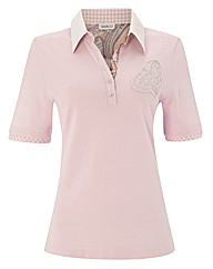 Gelco Embellished Polo Top