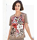Gerry Weber Printed Jersey and Woven Top