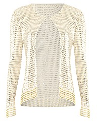 Anise Sequin Crochet Cardigan