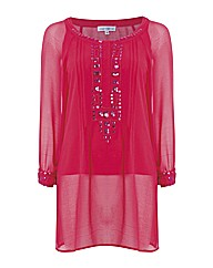 Anise Jewel Beaded Kaftan