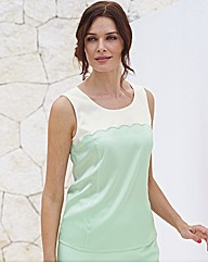Basler Silk Scallop Detail Top
