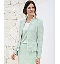 Basler Tweed Jacket With Scallop Trims