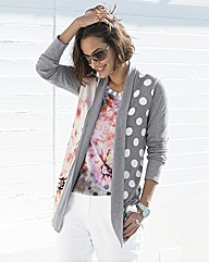 Betty Barclay Printed Long Line Cardigan