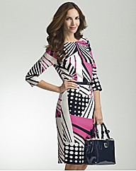Basler Geometric Print Dress