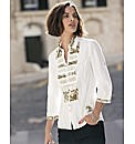 Embroidery Lace And Print Detail Shirt