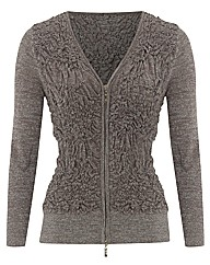 Anise Ruched Knit Cardigan