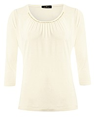 Anise Gathered Front Jersey Top