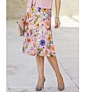 Basler Printed Fit And Flare Skirt
